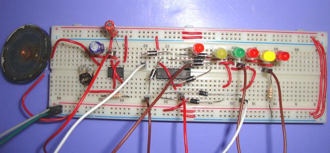 Clock-with-LED-Pendulum-Cir